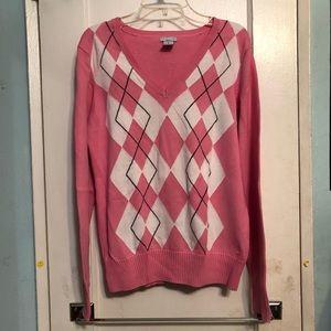 Izod Golf Pink Argyle Sweater